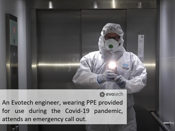 Evotech engineer in full PPE attends emergency call out