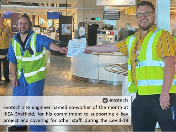Evotech site engineer named co-worker  of the month by IKEA Sheffield